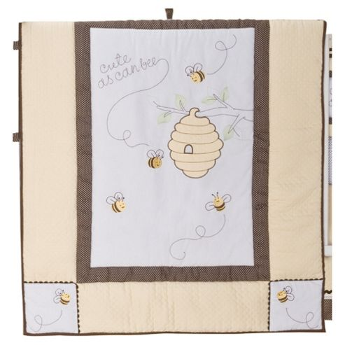 Kids Line Cute As Can Bee Cot Bed Quilt