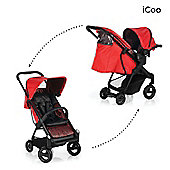 Icoo Acrobat Shop n Drive Travel System - Fishbone Red