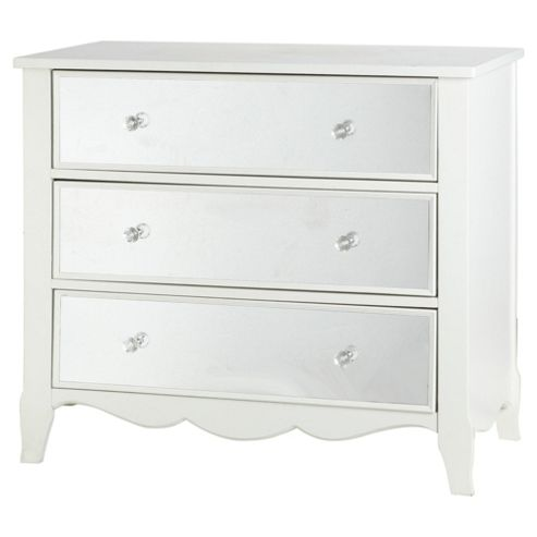 buy angel 3 drawer mirrored chest from our chests of