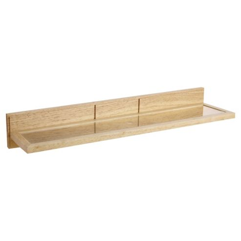 Croydex Glass Shelf Light Wood