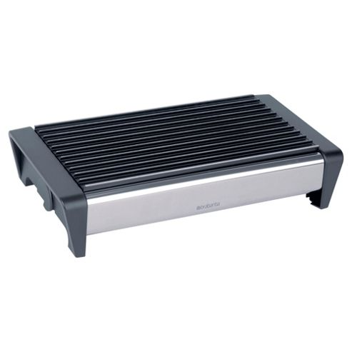 Brabantia Brilliant Steel 2 Burner Food Warmer, Black Grill