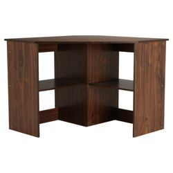 Fraser Corner Desk, Walnut Effect