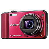 Sony DSCH70R Cyber-shot Digital Still Camera - Red (16.1MP, 10x Optical Zoom) 3 inch LCD