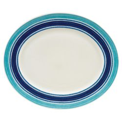 Johnson Bros 35cm Blue Stripe Oval Platter