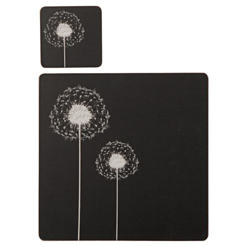 Dandelion Set of 4 Placemats and Coasters