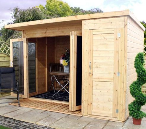 Buy mercia 10x8 large combi summerhouse from our summer for Combi garden room