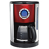 Morphy Richards 47077  1.4 Accents Coffee Machine - Red