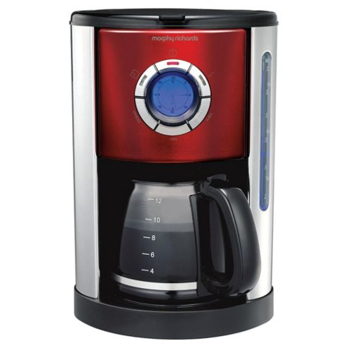 Morphy Richards 47094 Digital Coffee Machine - Red