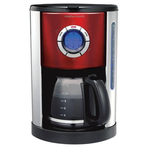 Morphy Richards 47094 Digital Coffee Machine - Red