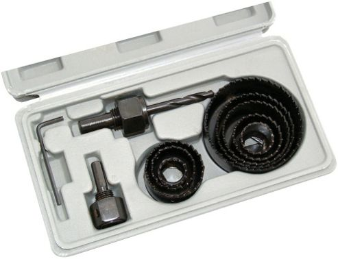 Am-tech 11Pc Hole Saw Kit In Blow Case M1550