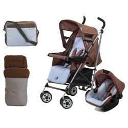 Hauck Turbo Shop N Drive Travel System, Wheel Blue