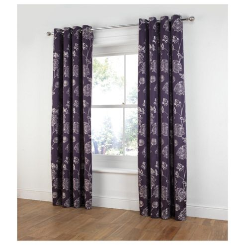 Tesco Ava Jacquard lined eyelet Curtains W163xL137cm (64x54
