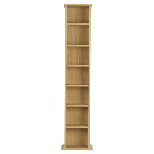 Fraser Oak Effect CD / DVD Storage, Height 190cm
