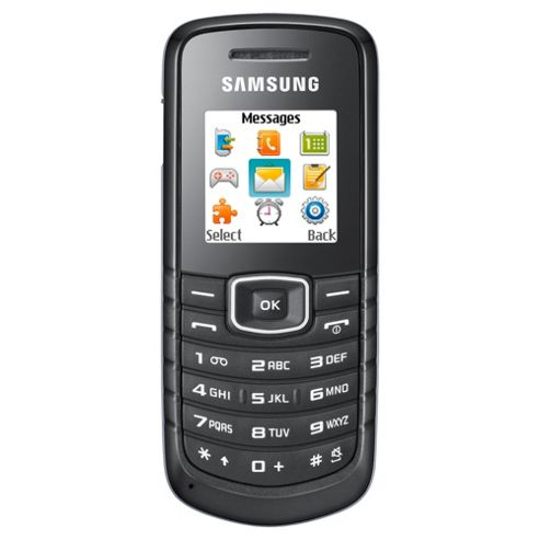 Tesco Mobile Samsung E1080i/W Black
