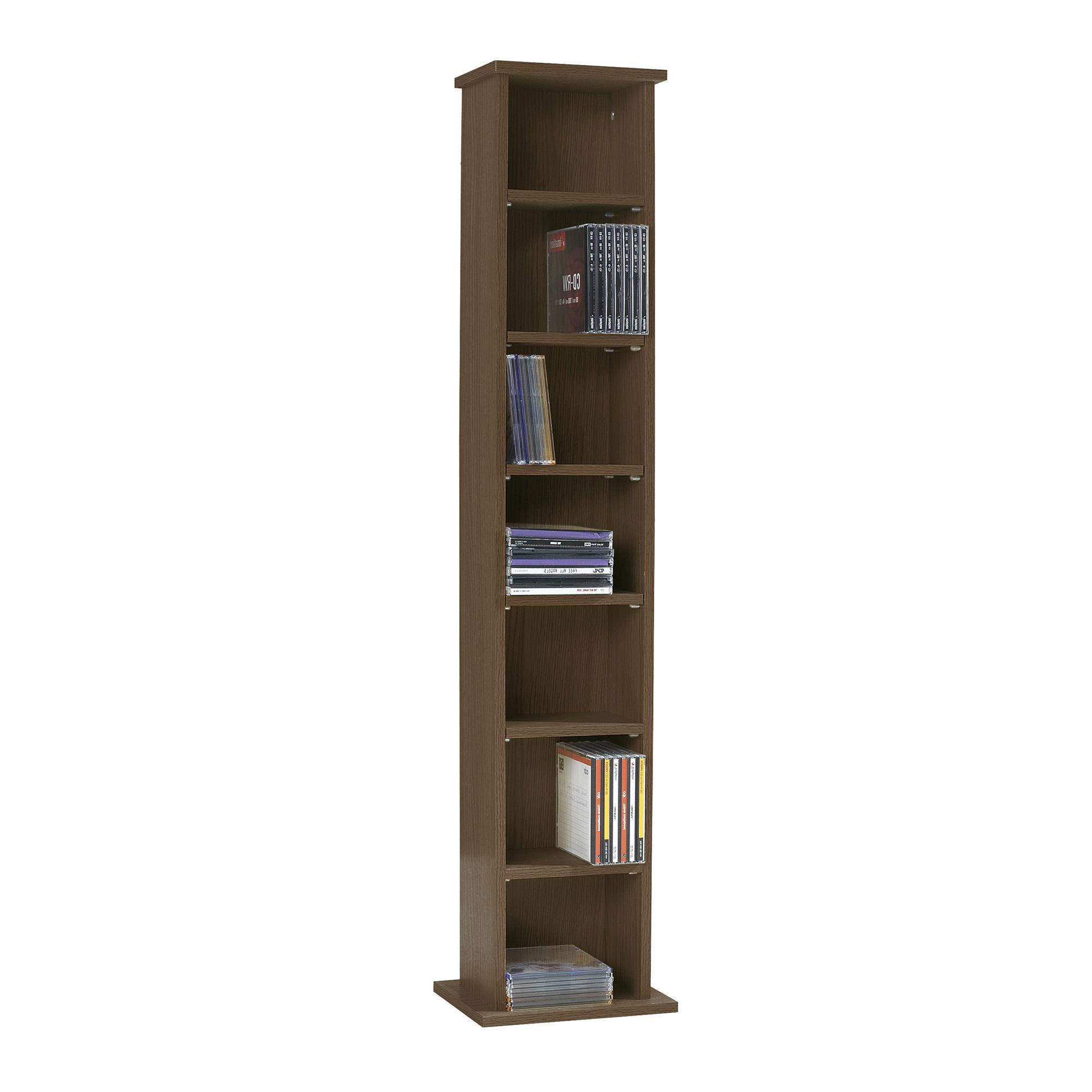 Fraser CD / DVD Storage H 109Cm, Walnut-effect