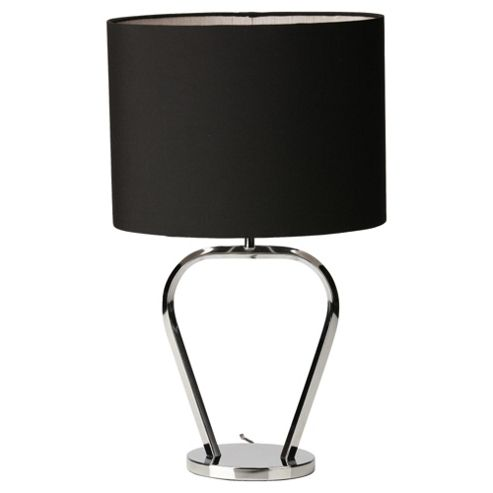 Tesco Lighting OxBow Black and chrome Lamp