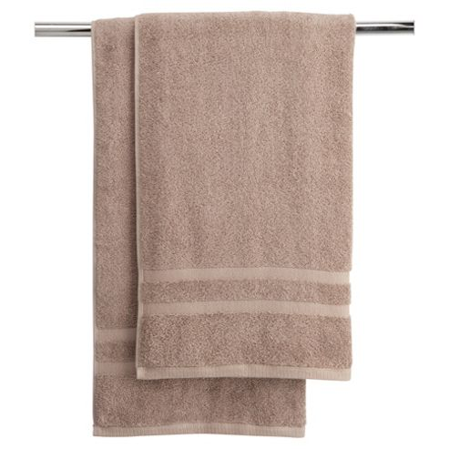 Tesco bath towel twin pack linen
