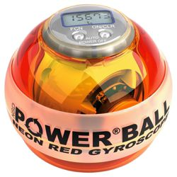 Powerball Pro Gyroscope, Neon Red