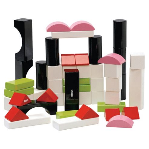 Brio Toddler Classic Building Blocks Coloured, wooden toy- Assortment – Colours & Styles May Vary