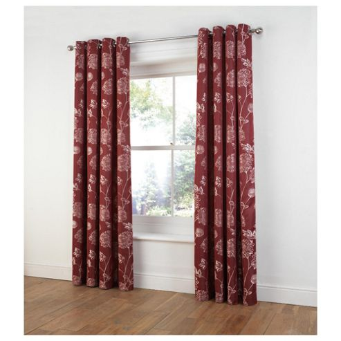 Tesco Ava Jacquard lined eyelet Curtains W163xL183cm (64x72