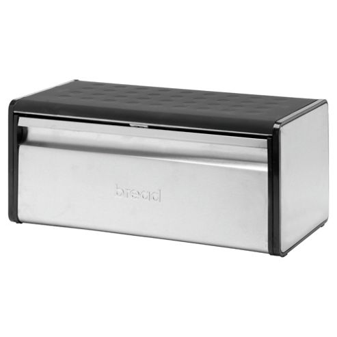 Go Cook Stainless Steel Bread Bin, Black