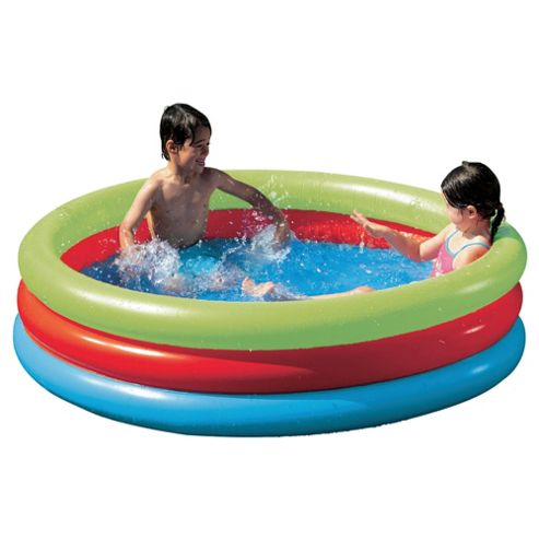 Tesco Multi-Colour 3-Ring Paddling Pool