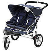 Out 'n' About Nipper Double 360, 3 wheeler Pushchair, Navy