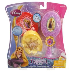 Disney Princess Tangled Musical Birthday Hair Brush Set
