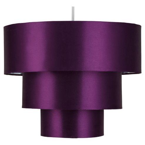 Tesco Lighting Bianca Satin 3 tier Shade Plum