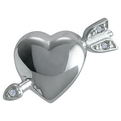 Truth Sterling Silver Heart / Arrow Crystal Charm