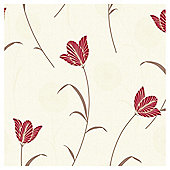 Arthouse Adelphi floral red wallpaper