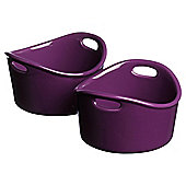 This Morning By Prestige Set of 2 Ramekins, Purple