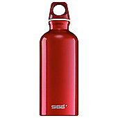SIGG Traveller Classic Aluminium Drinking Water Bottle, 0.4L Red