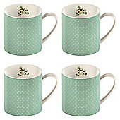 Katie Alice Blue Spots Set of 4 Can Mugs