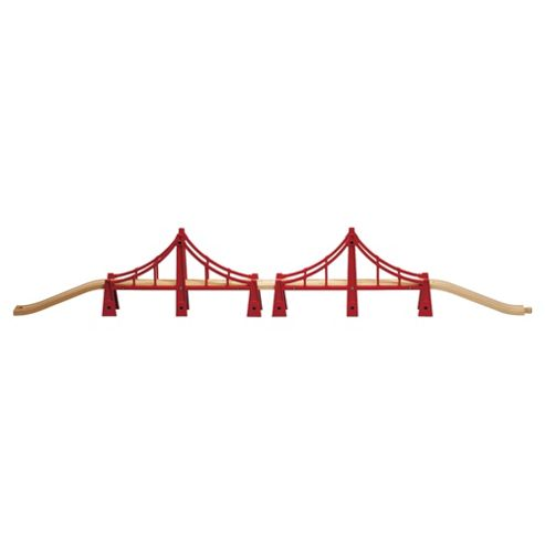 Brio Classic Accessory Double Suspension Bridge, wooden toy