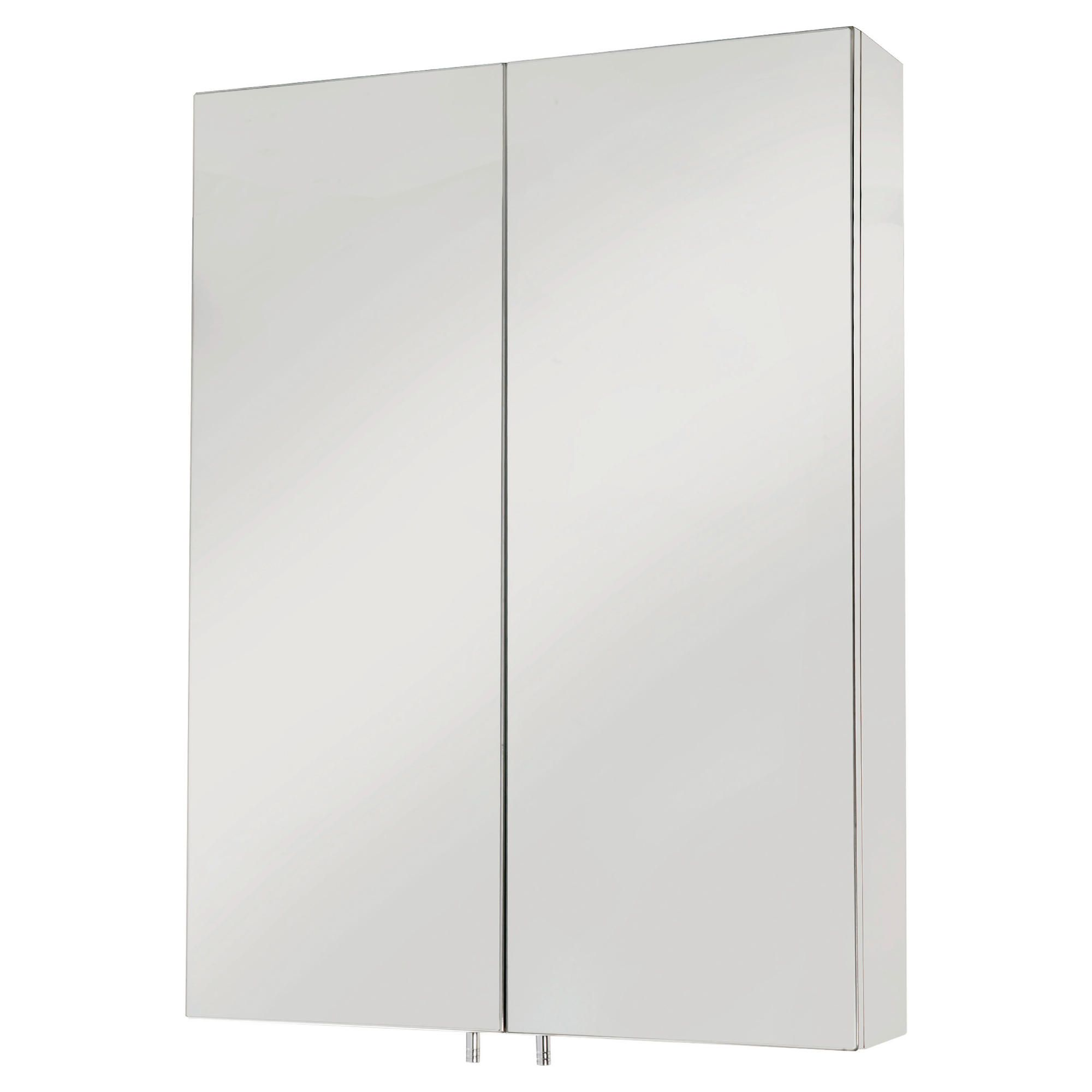 Croydex Anton Two Door Stainless Steel Cabinet
