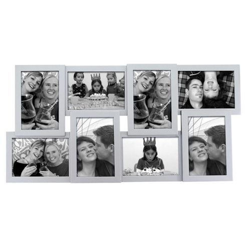 Present Time Photo Frame Layered Collection Wood Silver