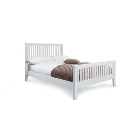 Hancock Double Bed Frame, White Painted