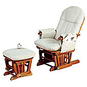 Tutti Bambini GC35 Reclinable Glider Chair & Stool Antique Pine