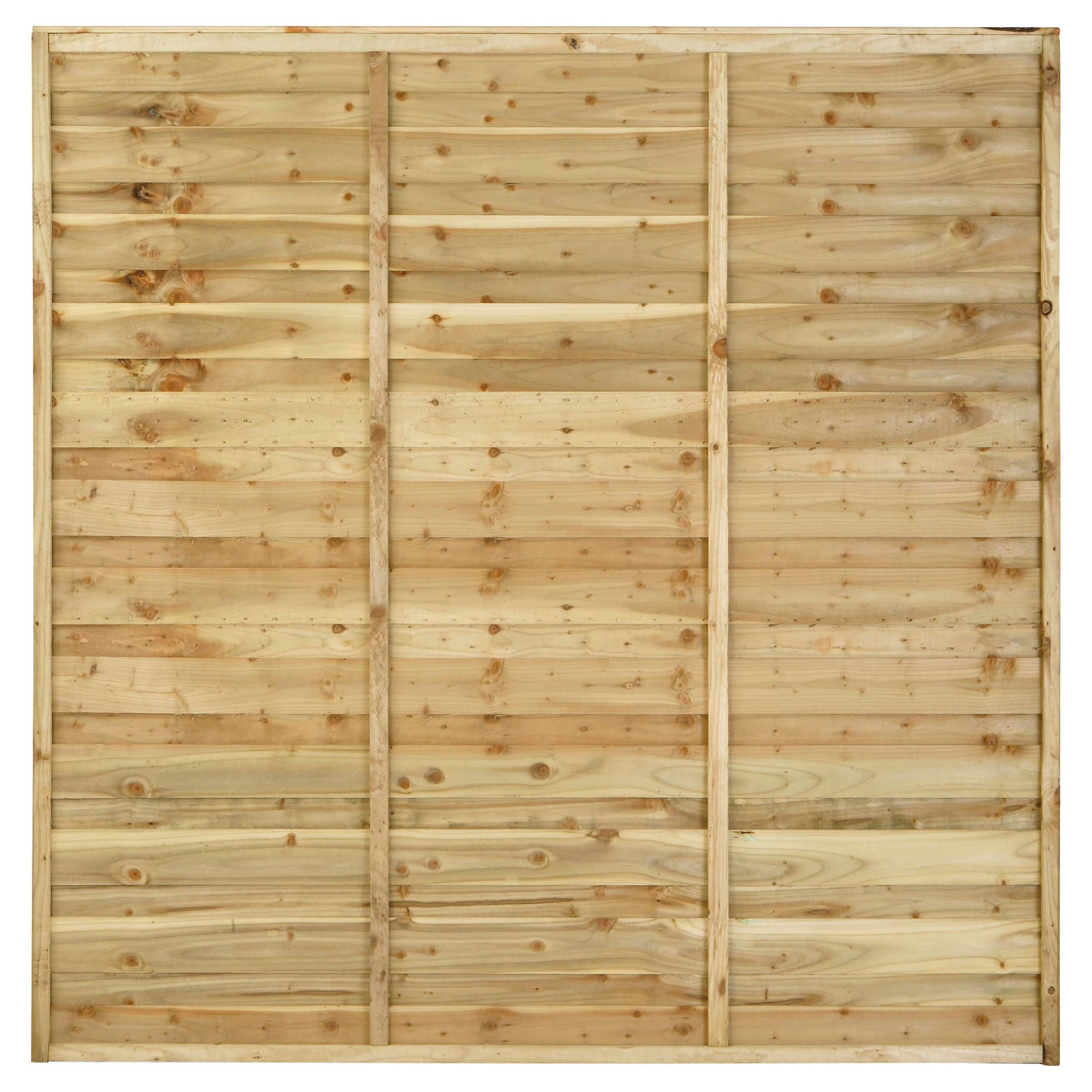 Timberdale 6x6 Sutton 5 Panel Pack with Posts and Fixing Brackets at Tesco Direct