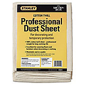 Stanley Cotton Twill Dust Sheet 12x9""