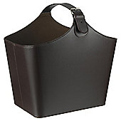 Tesco Faux Leather Magazine Basket with Buckle