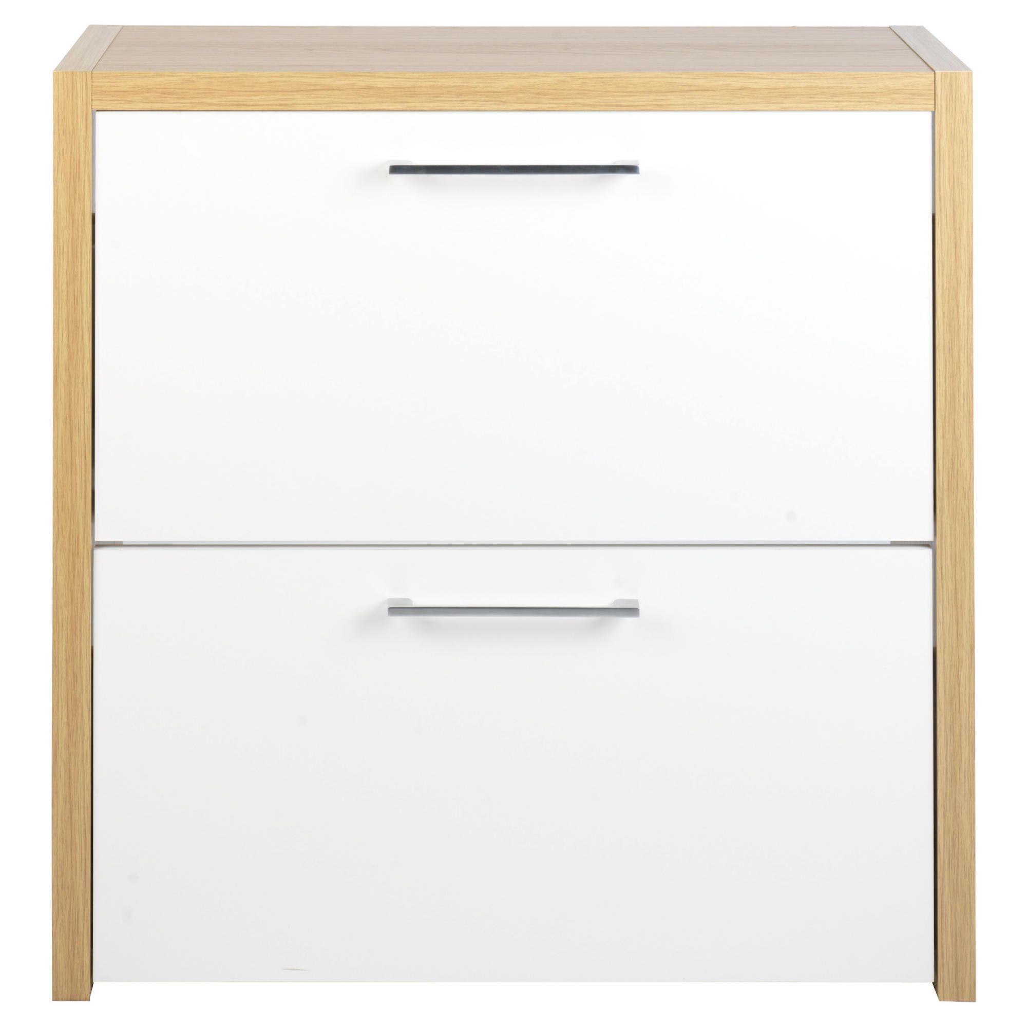 tesco manhattan shoe storage oak effect white gloss. Black Bedroom Furniture Sets. Home Design Ideas