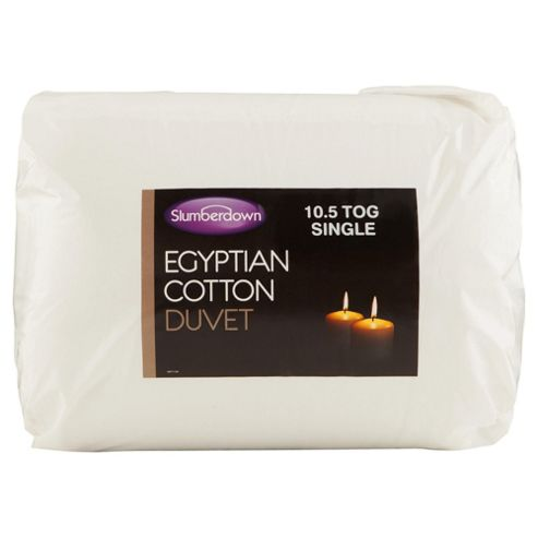 Slumberdown Egyptian Cotton Single Duvet 10.5 Tog