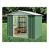 Yardmaster 7'5x8'9  Apex Metal Shed with floor support frame