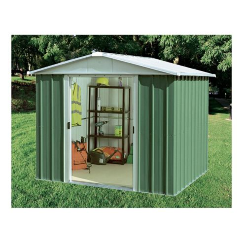 Yardmaster Apex Metal Shed with floor support frame, 8x9ft
