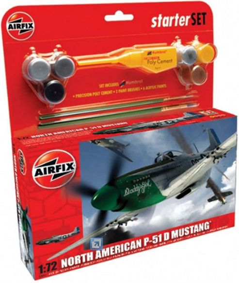 Airfix P-51D Mustang 1:72 Scale Cat 2 Gift Set