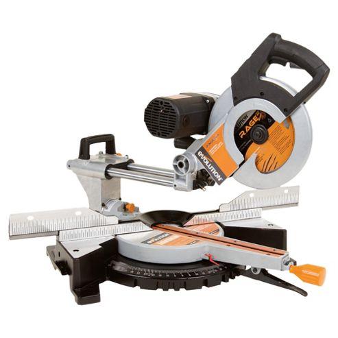 Evolution RAGE3-DB Multipurpose Double Bevel Sliding Mitre Saw (Orange)