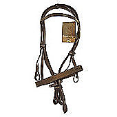 Cottage Craft Lincoln Bridle with reins Havana Cob