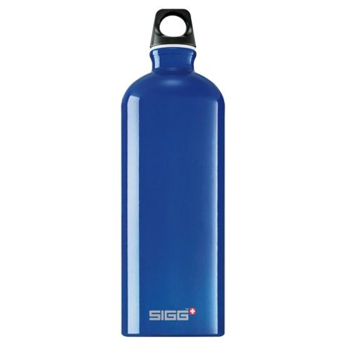 SIGG Traveller Classic Aluminium Drinking Water Bottle, 1L Blue